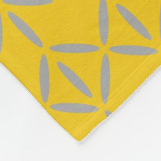 funky bold on mustard fleece blanket large pattern