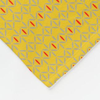 funky bold on mustard fleece blanket small pattern