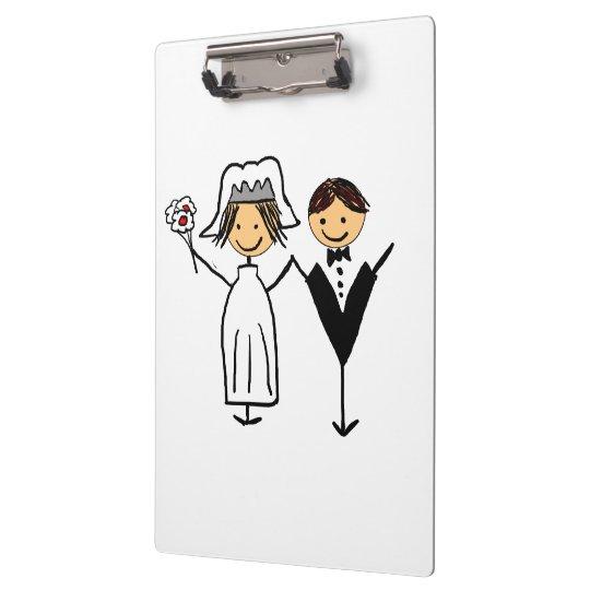 Funky Bride & Groom Clipboards