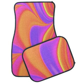 Funky Bright Color Swirl Car Carpet