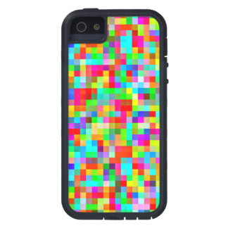 Funky Bright Colorful Pixels Mosaic iPhone 5 Case