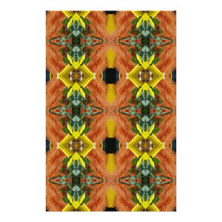 Funky Bright Fall Oranges Yellow Tribal Pattern Stationery Design