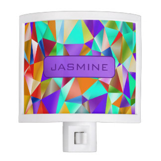 Funky Bright Geometric … Personalize Nite Light
