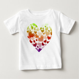 Funky Bright Hearts Pattern Baby T-Shirt