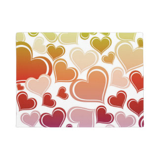Funky Bright Hearts Pattern Doormat