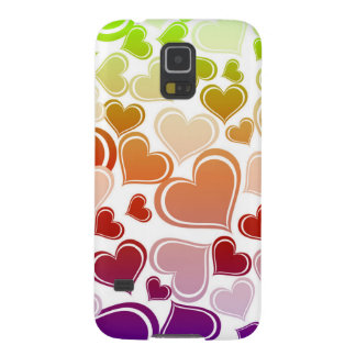 Funky Bright Hearts Pattern Galaxy S5 Covers