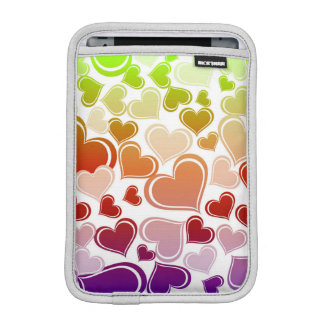 Funky Bright Hearts Pattern iPad Mini Sleeves