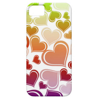 Funky Bright Hearts Pattern iPhone 5 Cases