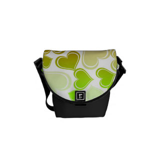 Funky Bright Hearts Pattern Messenger Bag