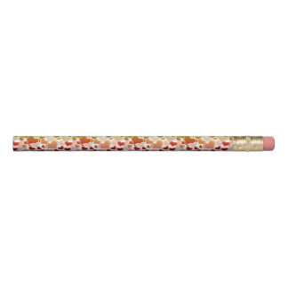 Funky Bright Hearts Pattern Pencil
