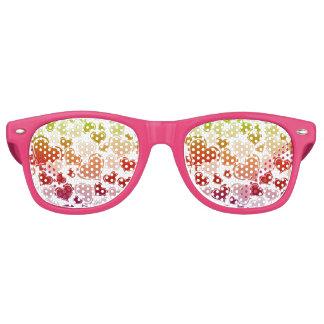 Funky Bright Hearts Pattern Retro Sunglasses