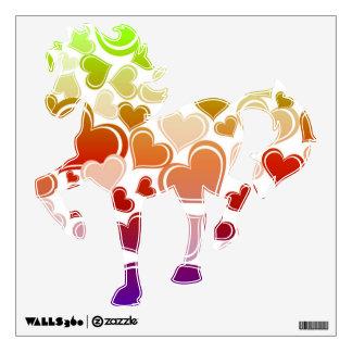 Funky Bright Hearts Pattern Wall Sticker