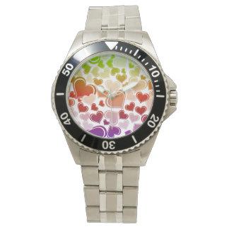 Funky Bright Hearts Pattern Watch