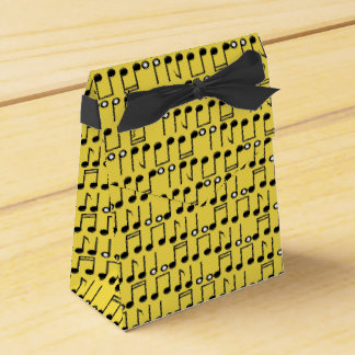 Funky Bright Musical Notes Pattern Favor Box
