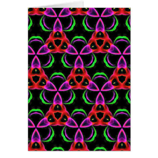 Funky Bright Neon Colors Seamless Pattern Card