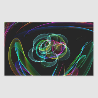 Funky Bright Neon Rainbow Over flower Color Sketch