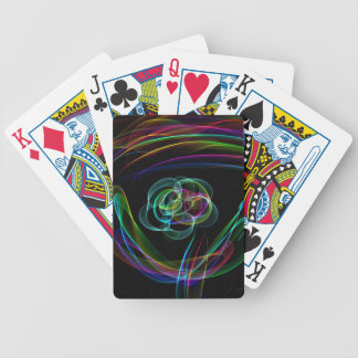 Funky Bright Neon Rainbow Over flower Color Sketch Poker Deck