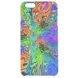 Funky Bright Psychedelic Clear iPhone 6 Plus Case