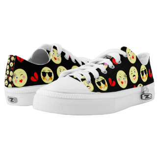 Funky Bright Trendy Emoticons Design Low-Top Sneakers