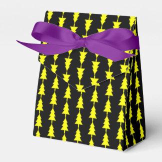 Funky Bright Yellow Fir Christmas Tree Favor Box