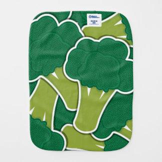Funky broccoli baby burp cloth