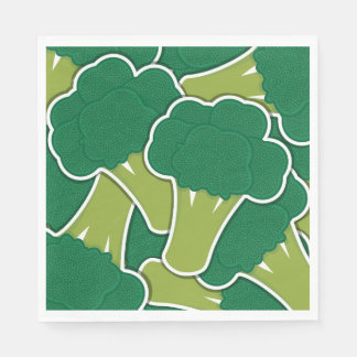 Funky broccoli disposable napkin
