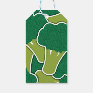 Funky broccoli pack of gift tags