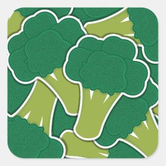 Funky broccoli square sticker