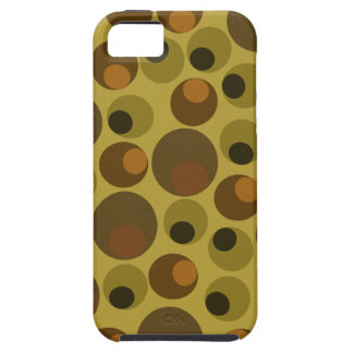 Funky Brown dots iPhone 5 Case