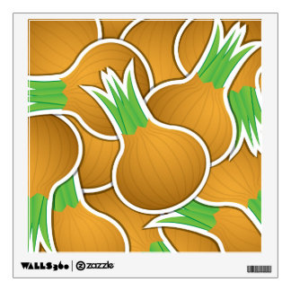 Funky brown onions wall sticker