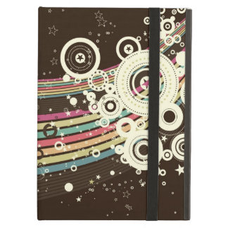 Funky Brown Retro Circles Vector iPad Air Cover