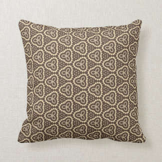 Funky brown retro pillow