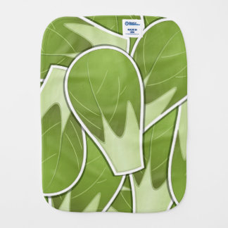 Funky brussel sprout burp cloth