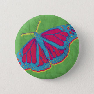Funky butterfly 2 inch round button