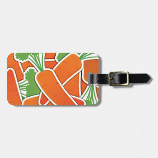 Funky carrot luggage tag