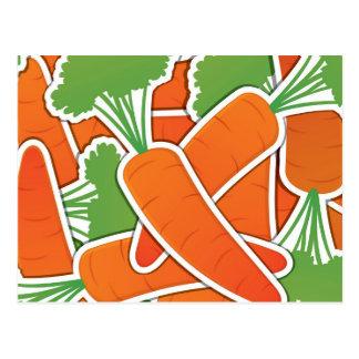 Funky carrot postcard