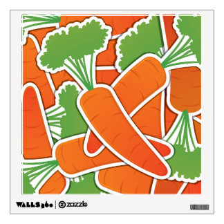 Funky carrots! wall decal