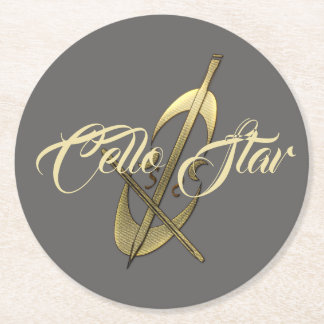 Funky Cello Star Musician Coaster