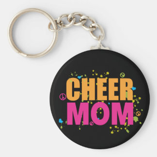 Funky Cheer Mom Keychain