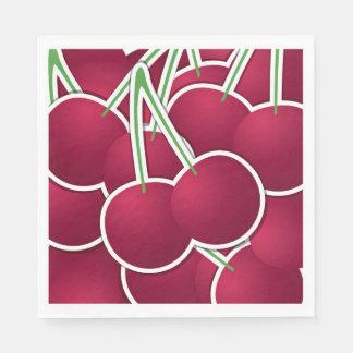 Funky cherry disposable napkin