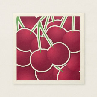 Funky cherry disposable napkins
