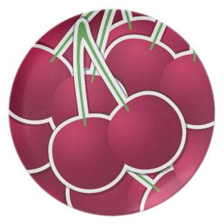 Funky cherry plates