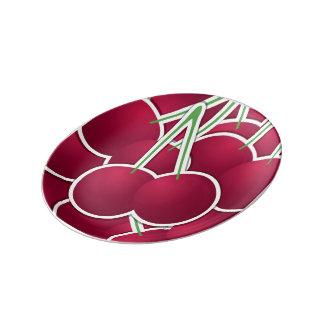 Funky cherry porcelain plates