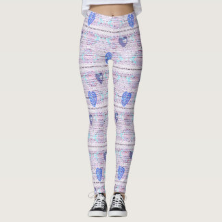 Funky Chic Hearts Leggings