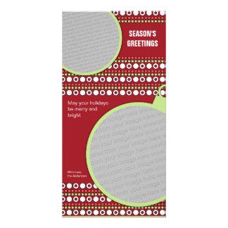 Funky Christmas Dots Photo Greeting Card
