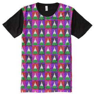 Funky Christmas Tree Pattern All-Over-Print T-Shirt