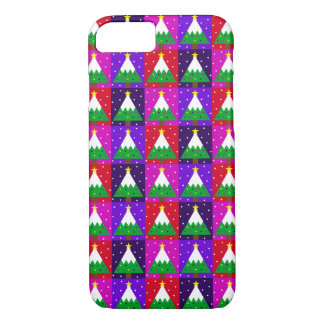 Funky Christmas Tree Pattern iPhone 8/7 Case