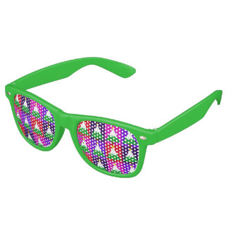Funky Christmas Tree Pattern Retro Sunglasses