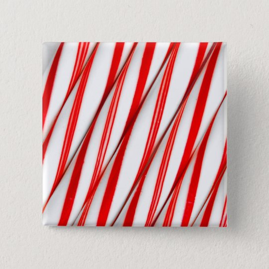 Funky Chrstmas Candy Canes 2 Inch Square Button