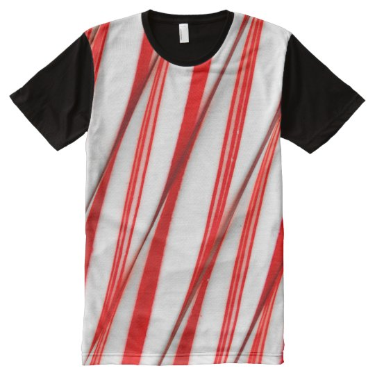 Funky Chrstmas Candy Canes All-Over-Print T-Shirt